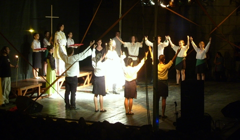 "Scene from ""Stephen, the King"" rock opera"