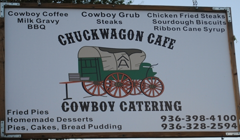 The Chuckwagon Cafe Sign