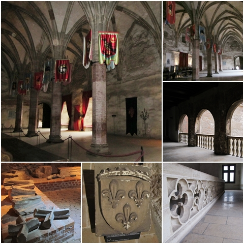 The Knight's Hall, spacious corridors, and archaeological findings on display