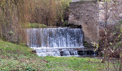 The idyllic Zlasti Creek waterfall